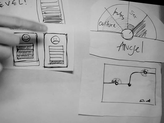 Sketch of concepts at Design Jam London