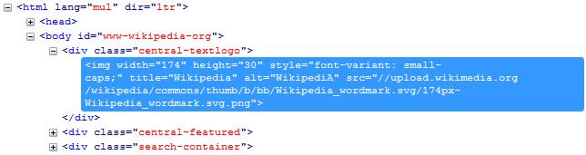 Wikipedia DOM