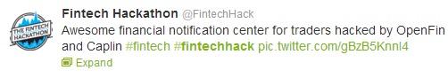 FinTech Caplin tweet